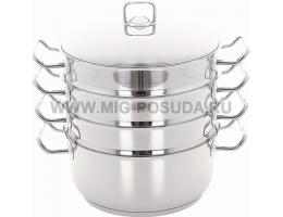 Мантоварка d30см 3 секции мет/руч стек/кр Arian Gastro 9213.006