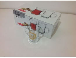 Армуды №6 стакан для чая с ручкой 145сс 55411/Деколь 5